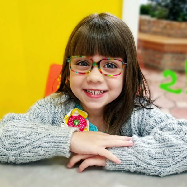 Rainbow tie dye colored glasses for kids by Etnia Barcelona