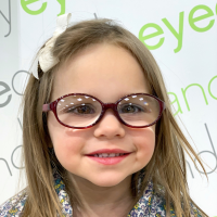 Cute neutral Nanovista oval glasses for toddlers