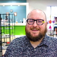 Brandon, a Certified Optician at Eye Candy Kids