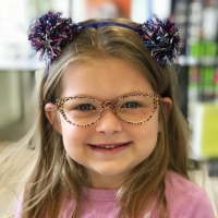 LaFont Leopard Print Cateye Glasses for Girls