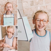 Lafont Pour Les Enfants Orange Clear Frames for Girls