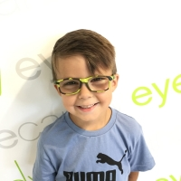 Nano Lime Green Camo Eyeglasses for Boys