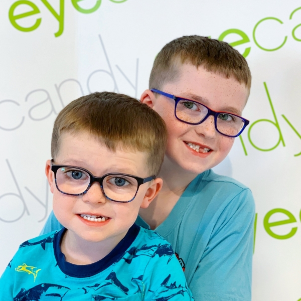 Brotherly love with matching eyeglasses by Etnia Barcelona