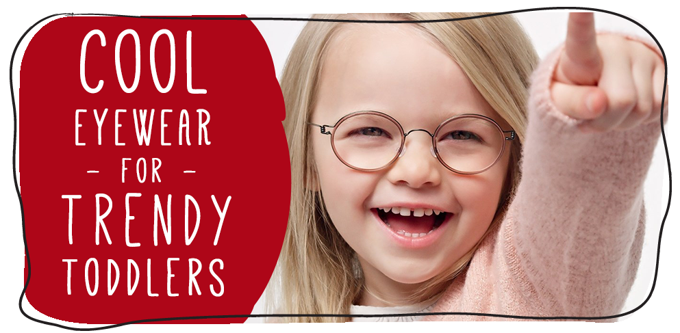 Little girl with smart eye glasses - Cool eyewear for trendy toddlers